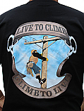 Size-Extra-Large-Live-to-Climb-Tee-Color-Black-Made-in-U.S.A.-Free-Delivery